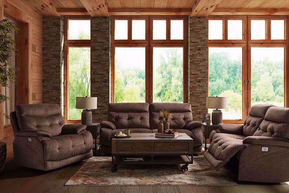 Picture of Cassi Chocolate Power Adjustable Reclining Sofa