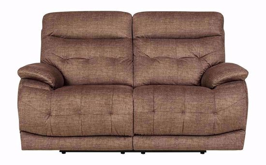 Picture of Cassi Chocolate Power Adjustable Reclining Loveseat