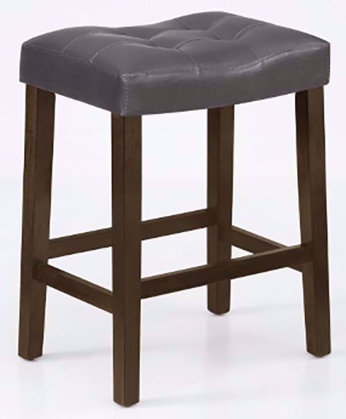 Picture of Verona Gray Saddle Counter Stool