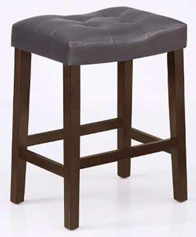 Verona Gray Saddle Counter Stool