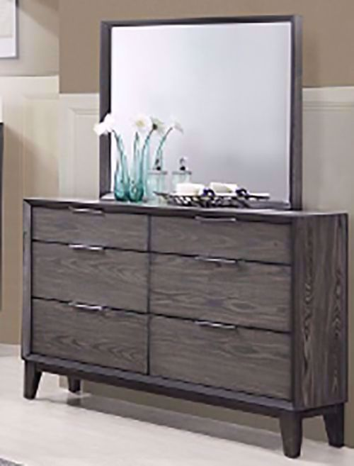 Picture of Florian Gray Dresser and Mirror
