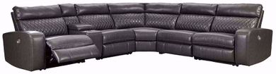Samperstone Gray Six Piece Power Sectional