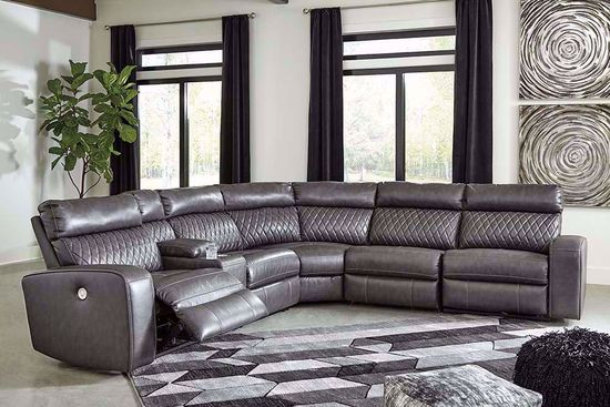 Picture of Samperstone Gray Six Piece Power Sectional