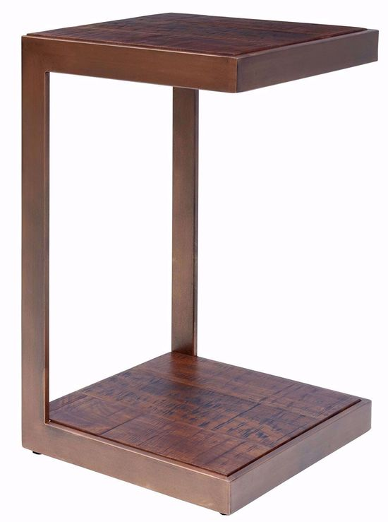 "Picture of Global Archive Burnished Copper ""C"" Table"