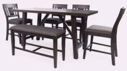 American Rustics Table and Four Stools and One Bench