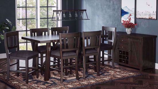Picture of American Rustics Table and Six Stools
