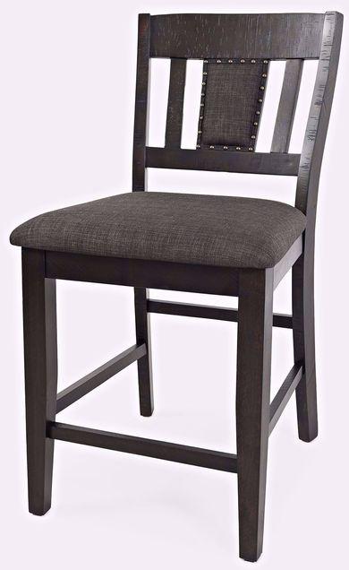 American Rustics Upholstered Slatback Stool