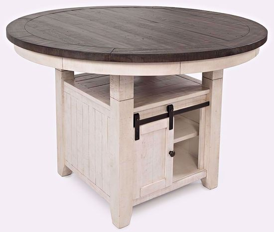 Picture of Madison White Round Convertible Table and Four Chairs