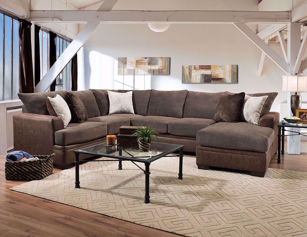Picture of Akan Mocha Two Piece Sectional