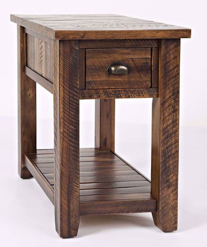 Artisan's Craft Oak Chairside Table