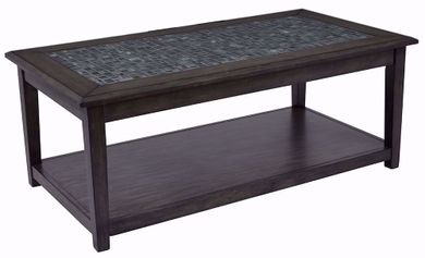 Grey Mosaic Castered Cocktail Table