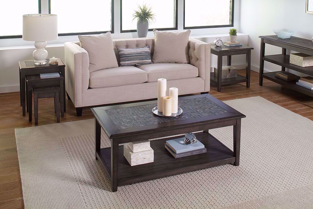 Picture of Grey Mosaic Sofa Media Table