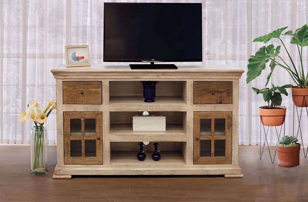 Picture of Vintage White TV Stand