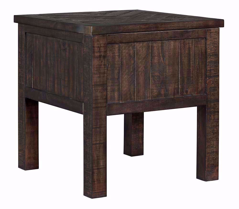 Picture of Hillcott Brown Rectangular End Table