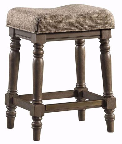 Balboa Park Upholstered Backless Stool