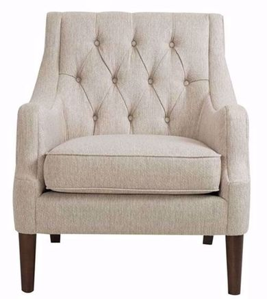 Qwen Cream Button Tufted Chair