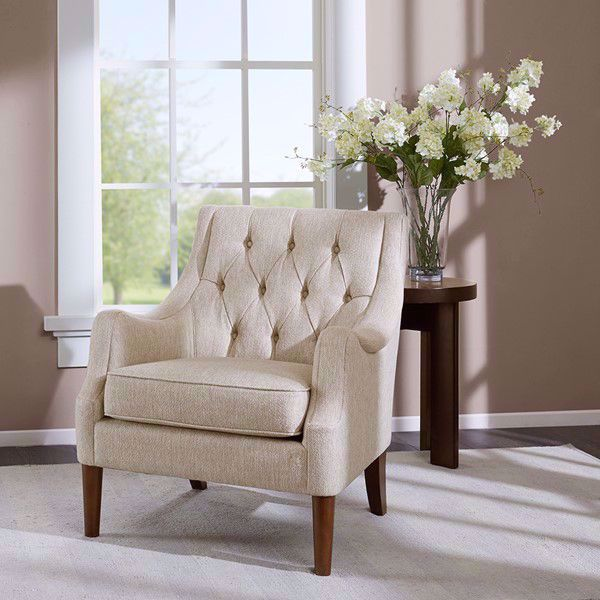 Picture of Qwen Cream Button Tufted Chair