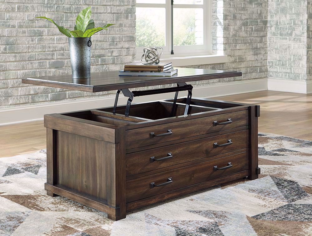Picture of Lakeleigh Brown Rectangular Lift Cocktail Table