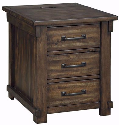 Lakeleigh Brown Rectangular End Table