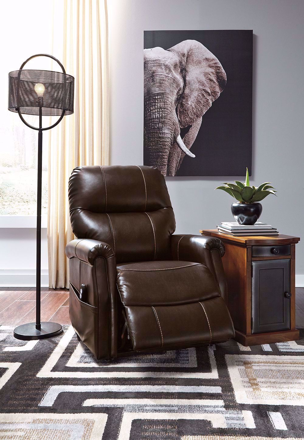 Picture of Markridge Chocolate Power Lift Recliner