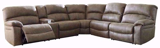 Picture of Segburg Driftwood Four Piece Reclining Sectional