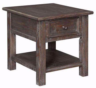 Wyndahl Brown Rectangular End Table