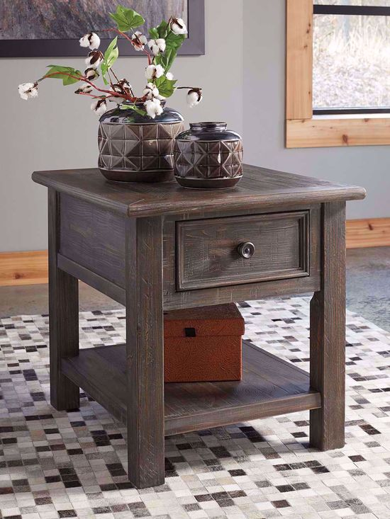 Picture of Wyndahl Brown Rectangular End Table