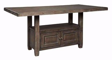Wyndahl Rectangular Counter Storage Table
