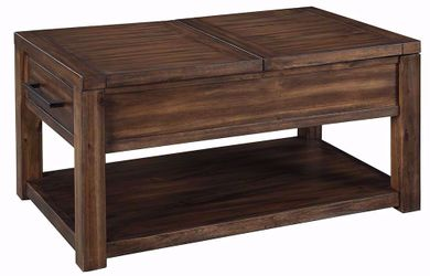 Marleza Brown Rectangular Lift Cocktail Table