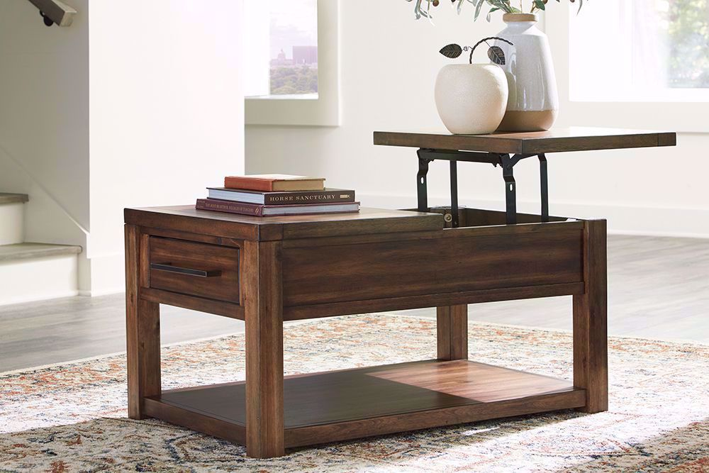 Picture of Marleza Brown Rectangular Lift Cocktail Table