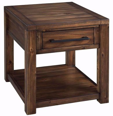 Marleza Brown Rectangular End Table