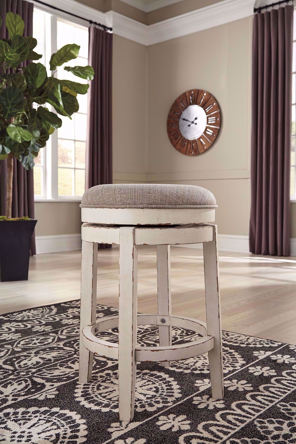 Picture of Realyn Backless Upholstered Swivel Stool