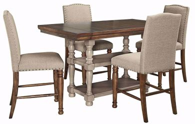 Lettner Counter Table with Four Stools