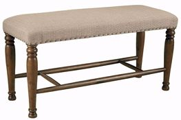 Lettner Extra Large Upholstered Counter Bench