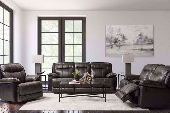 Picture of Iris Gray Glider Console Loveseat