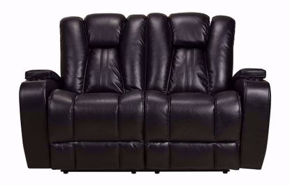 Vance Black Dual Power Loveseat