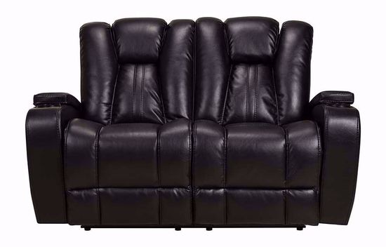 Picture of Vance Black Dual Power Loveseat