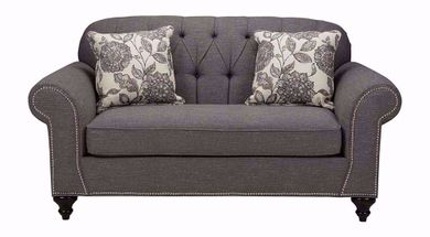 Hannigan Pewter Amepor Loveseat