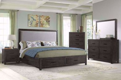 Shelby King Upholstered Bedroom Set