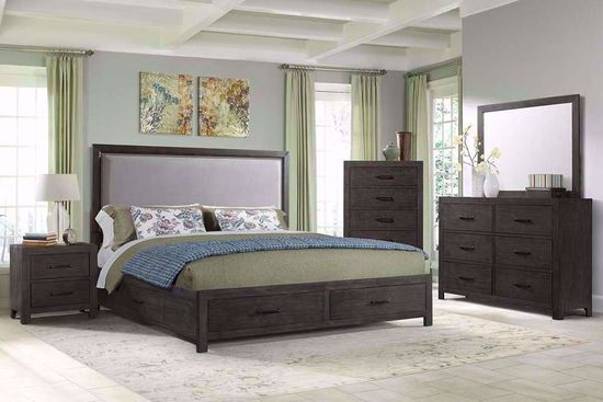 Picture of Shelby King Upholstered Bedroom Set