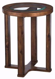 Hannery Brown Round End Table