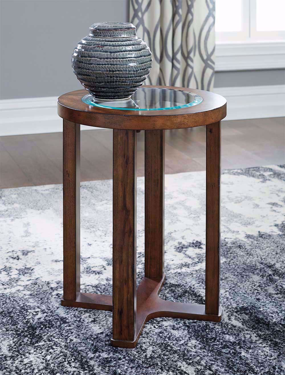 Picture of Hannery Brown Round End Table