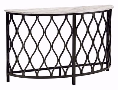Trinson Gray and Black Sofa Table