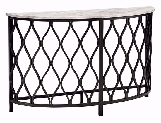 Picture of Trinson Gray and Black Sofa Table