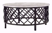 Trinson Gray and Black Round Cocktail Table