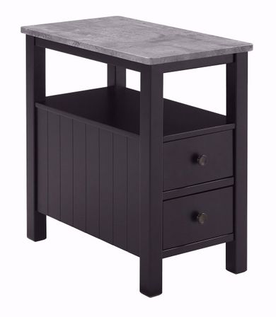 Ezmonei Black and Gray Chairside Table