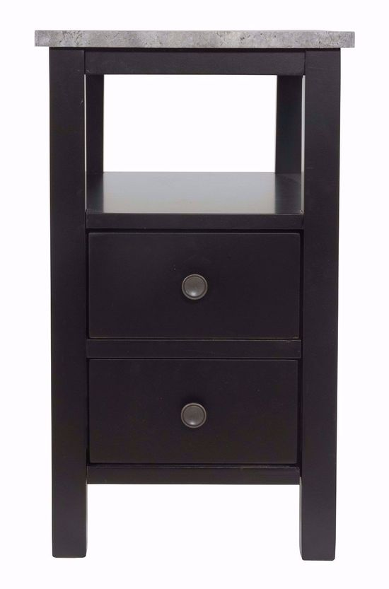Picture of Ezmonei Black and Gray Chairside Table