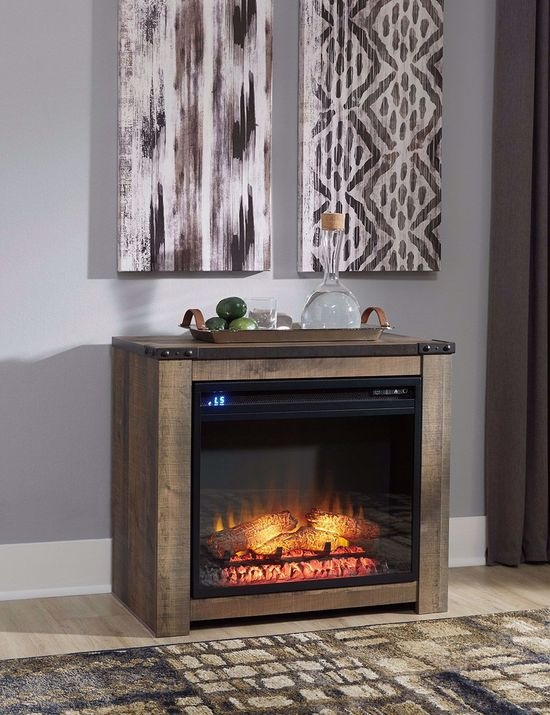Picture of Trinell Fireplace Mantle with Fireplace Insert