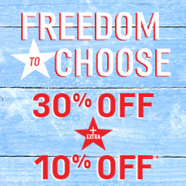 Freedom to Choose| 30% off + Extra 10% off*