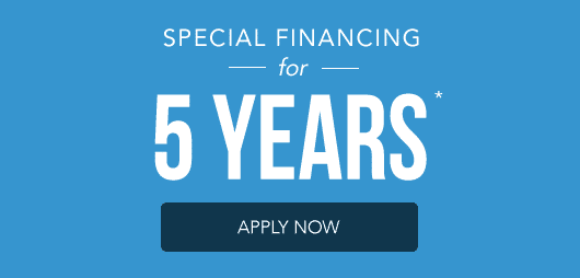 Special Financing For 5 Years Ly Now